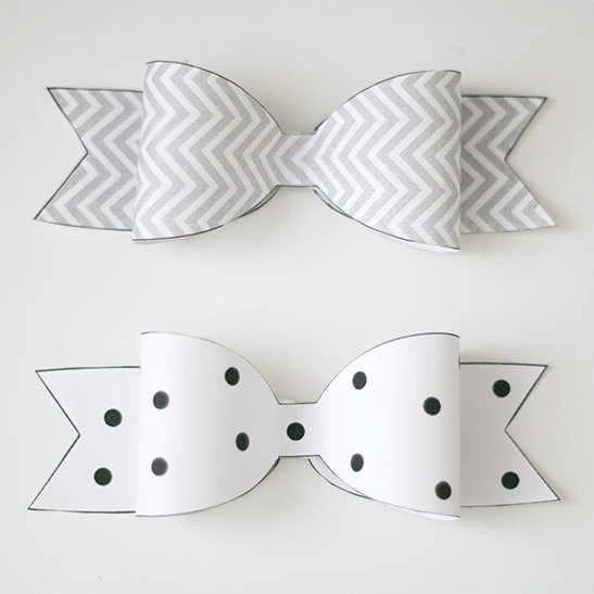 Freebie Friday: Printable Paper Bows